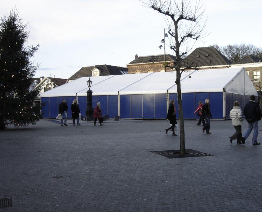 Aluhal op kerstmarkt Wijchen